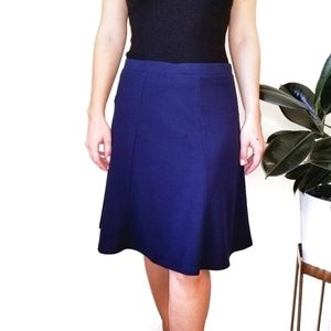 SAMI & JO Fit and flared petite blue skirt size PM
